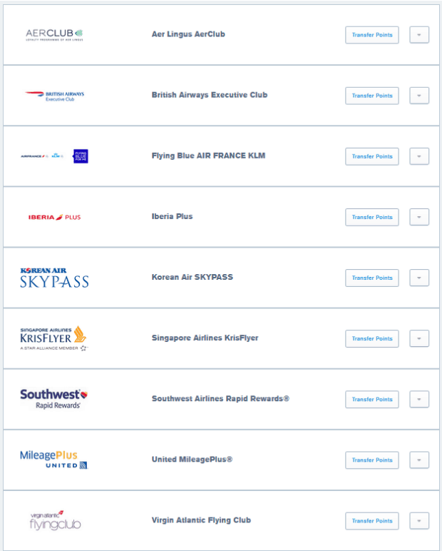 Transfer to These Airline Partners