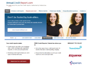 Get all three credit reports annually, for free!