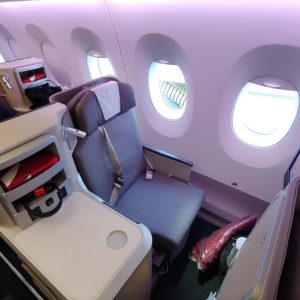 I flew Iberia Business class to Europe and really enjoyed it