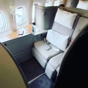 Don't let Cathay Pacific First Class fool you - it is very luxurious and comfortable.