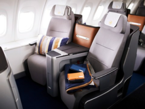 Lufthansa doesn't offer direct aisle access from all seats (image courtesy of lufthansa)