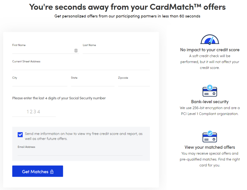 CardMatch Tool Offers