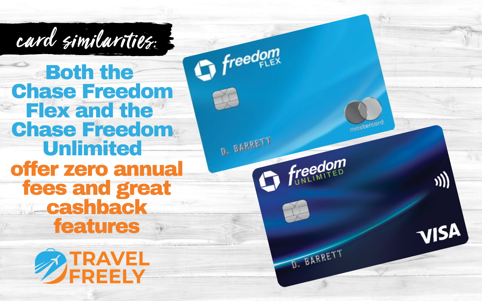 Chase Freedom Flex and Chase Freedom Unlimited sim