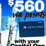 Earn up to $560 via points with your Capital One Venture Card
